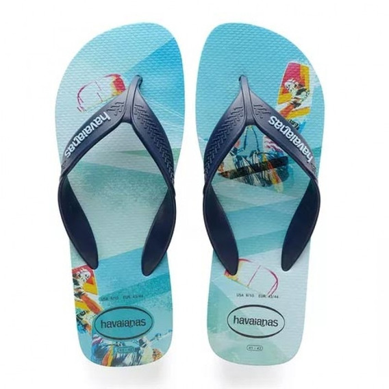 Chinelo Havaianas Masculina Surf Azul Colecao 2019