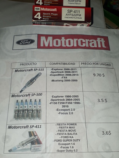 Bujias Motorcraft Sp411 Sp-411 Disponibles Anzoategui