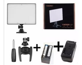 Kit Iluminador Yongnuo Yn300 +bateria Np-f970+carregador
