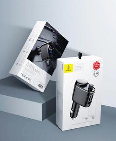 Transmissor Veicular Bluetooth Fm, Mp3, Carregador, Baseus