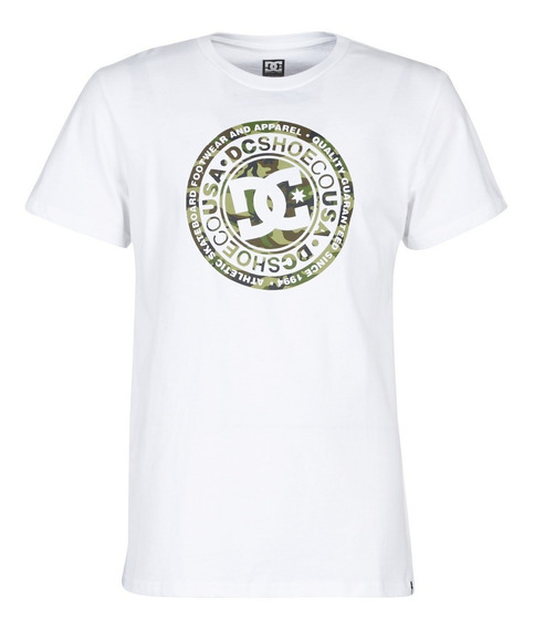 Dc Remera Lifestyle Hombre Circle Star Blanco - Camo