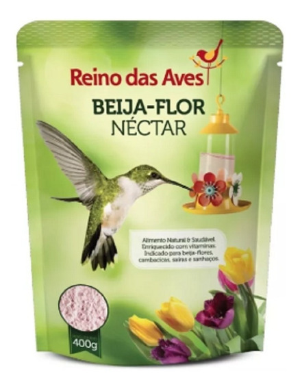 Néctar Para Beija-flor Refil 400gr - Reino Das Aves