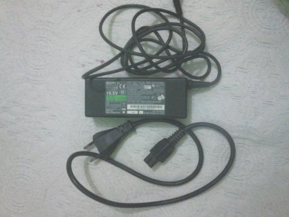 Fonte De Notbook Sony 19,5 Volts Usado 50 Reais