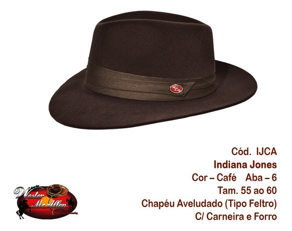Chapéu Social Indiana (fedora)