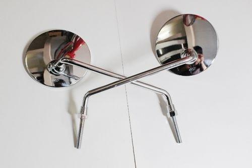 Espelho Retrovisor Yamaha Metal Cromado Rd 50 Yb Rx 125 8mm