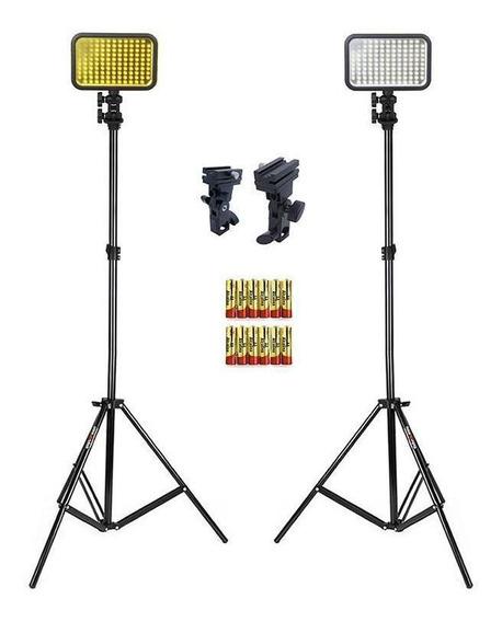 Estúdio Youtuber Iluminação De Led Completa Kit Curtidas
