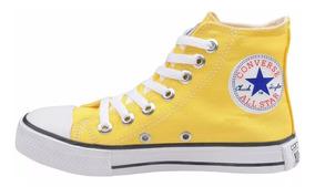 Tênis Converse All Star Cano Alto Unissex Amarelo