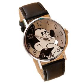 Relógio De Pulso Adolescente/criança Mickey Mouse - Preto