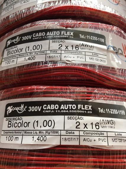 Cordão Paralelo Bicolor 2x1mm 2x16awg Cabomix