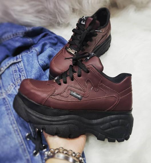 Zapatilla Plataforma Mujer Urbana Micaela Sneakers - Valen
