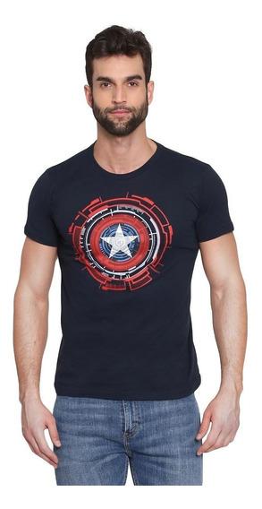 Playera Hombre Toxic Capitán América Escudo Marvel Avengers