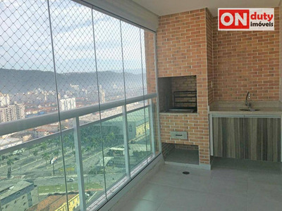Apartamento Com 3 Dormitórios À Venda, 109 M² Por R$ 1.000.000 | Locação: R$ 4.500,00 (pacote) - Gonzaga - Santos/sp - Ap4185