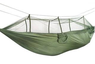 Rede De Dormir Com Mosquiteiro Camping Acampamento Verde