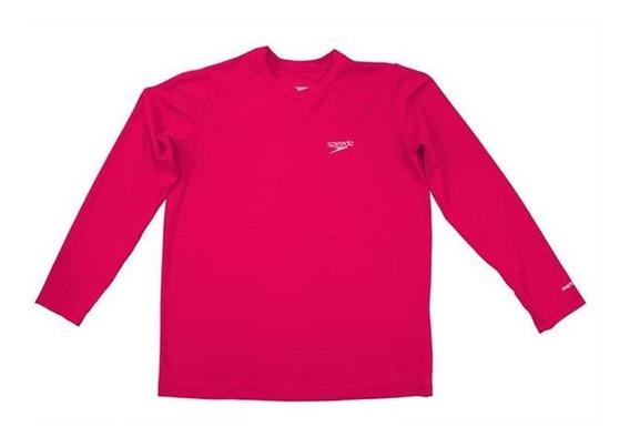 Camiseta Infantil Manga Longa Uv Protection Rosa Speedo