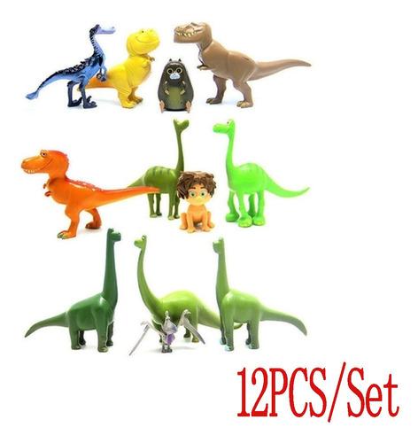 Imagen 1 de 10 de 12 Piezas De Decoración Para Tartas De Cumpleaños Con Dinosa