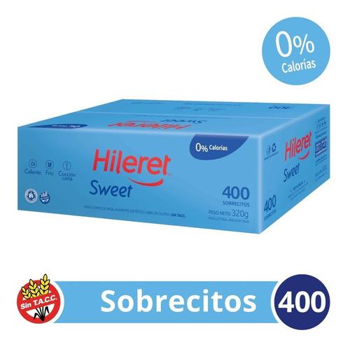 Endulzante Hileret Sweet. 400 Sobrecitos. Pack X 4 Cajas