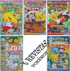 Kit 5 Revista Pokemon Club Milênio Evolution Passatempo Go