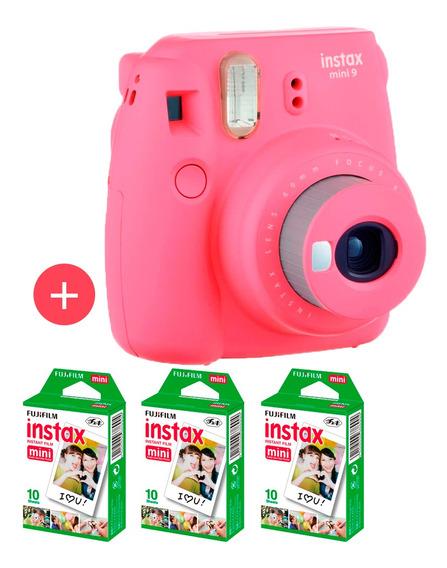 Câmera Instax Mini 9 Rosa Flamingo + 30 Fotos