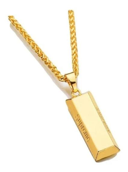 Colar Supreme Corão Barra De Ouro