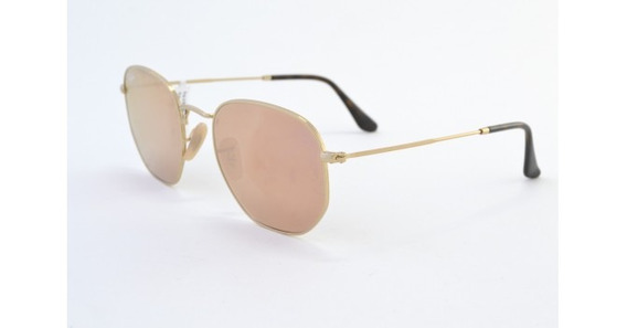 Óculos De Sol Ray Ban Hexagonal Rb3548n 001/z2 Metal Unissex