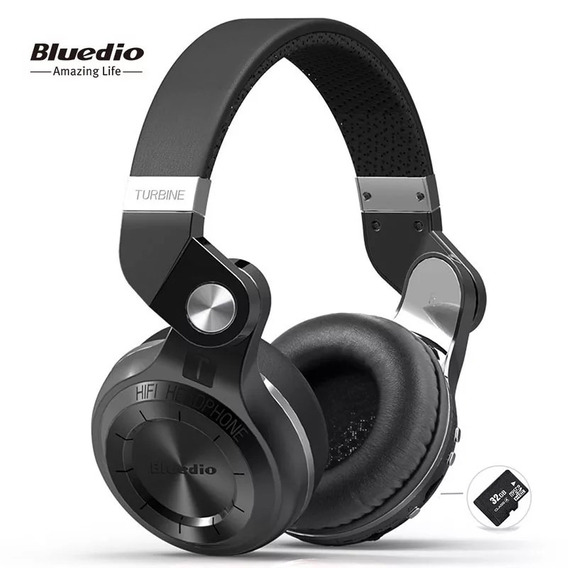 Fone De Ouvido Bluedio Turbine T2+ Com Fm E Aceita Micro Sd