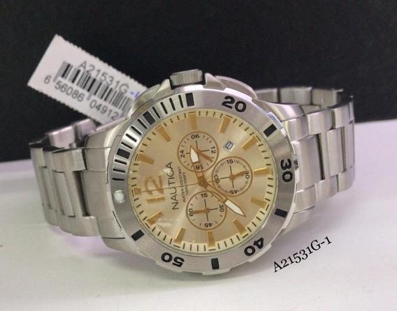 Relógio Nautica Cronografo A21531g-1 Na Altarelojoaria