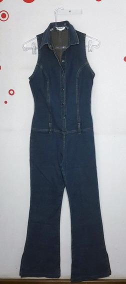 Macacão Jeans Estilo Anos 70
