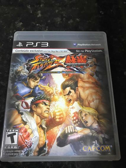 Jogo Ps3 Street Fighter X Tekken Original Mídia Física