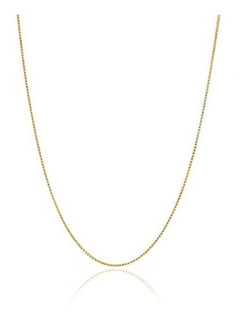 Collar De Cadena De Caja Italiana Delgada De Oro De 18q Sobr