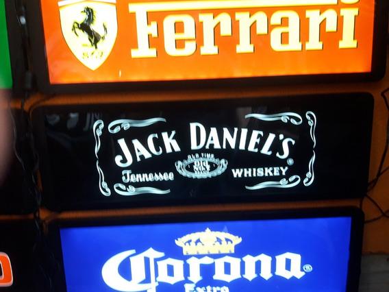 Quadro Iluminado Placa Led Marcas Cerveja Carro Whisky Retrô