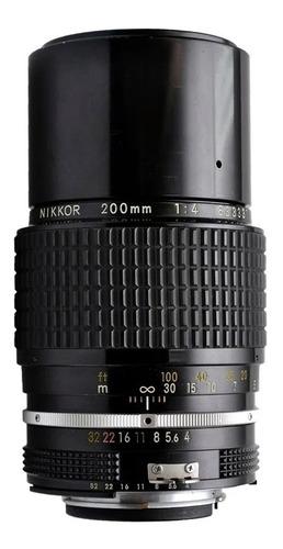 Lente Nikon Nikkor F 200mm F/4 Linda Super Vintage!