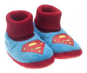 7eb9120f9c1310 Pantufa Infantil Ricsen Liga Da Justiça Superman Batman