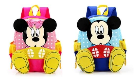 Mochila Mickey & Minnie Niño Niña Prescolar Cute E.g