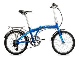 Bicicleta Plegable Olmo Pleggo Full 7 Vel Rodado 20 Negro