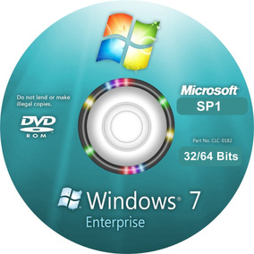 Cd Windows 7 Enterprise 32/64bits Ativado