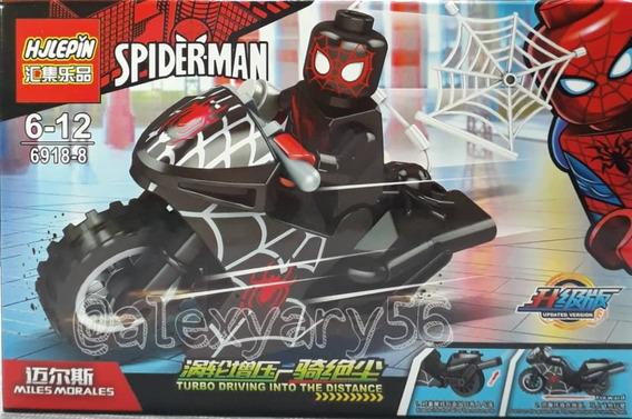 Juguete Lego Super Heroe Spiderman Con Moto