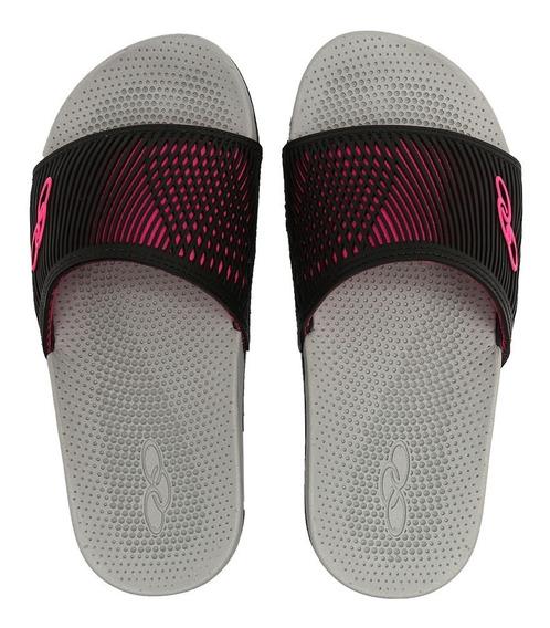 Slide Olympikus Cancun Preto/pink 54003480