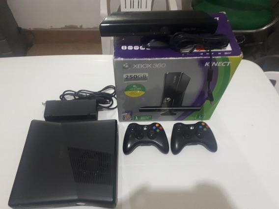 Video Game Xbox 360 250g Kinect 2 Controles + 8 Jogos