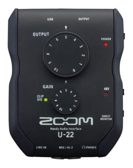 Interface De Áudio Zoom U-22 - Portátil, Usb