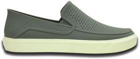 Zapato Crocs Caballero Citilane Roka Slip On Gris