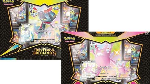 Imagem 1 de 4 de Box Dragapult + Crobat Vmax Destinos Brilhantes  Ee4.5 Copag