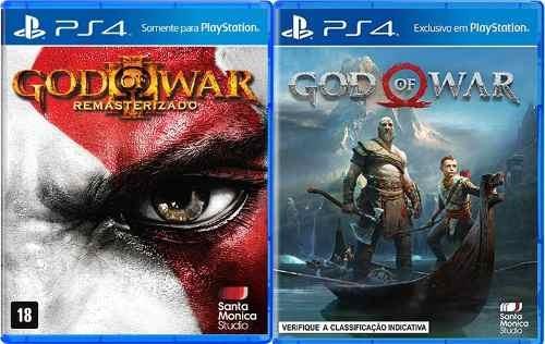 Jogo Mídia Física God Of War 4 + God Of War 3 Para Ps4