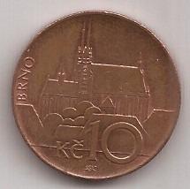 Republica Checa Moneda De 10 Coronas Año 2014 !
