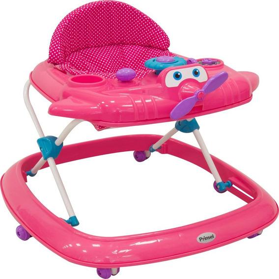Andadera Para Bebe Girl Avion Rosa Ideal Para Niñas