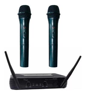Microfono Inalambrico Doble Vhf Parquer Wr-368 Vr