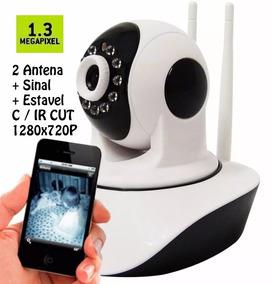 Camera Ip Robo P2p Wirelles Sem Fio Com Vizao Noturna 720 Hd