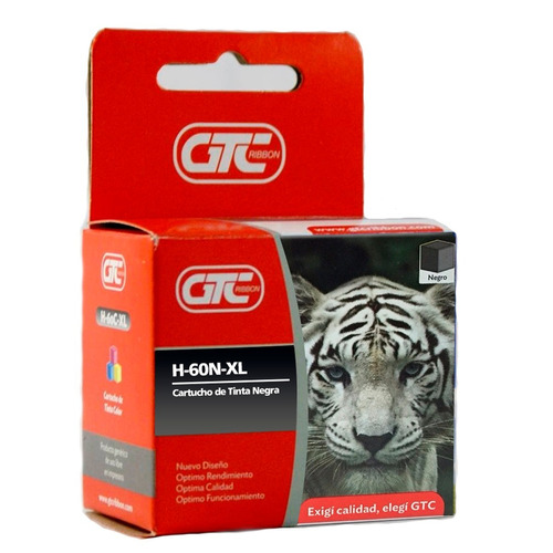 Cartucho Alternativo Gtc  Hp 60 Xl Negro Garantia