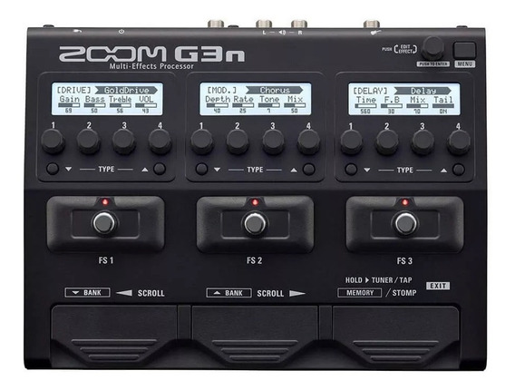 Pedaleira Zoom G3n Multi-efeitos P/ Guitarra