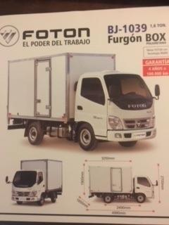 Fotón 0km C/furgón 1,6 Y 2.0 Ton. // Precio Leasing