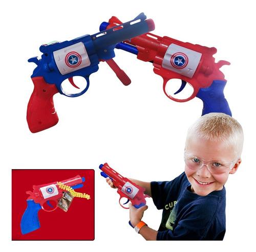 Pistola Balines Capitán América Juegos Jugueteria Didáctico.
